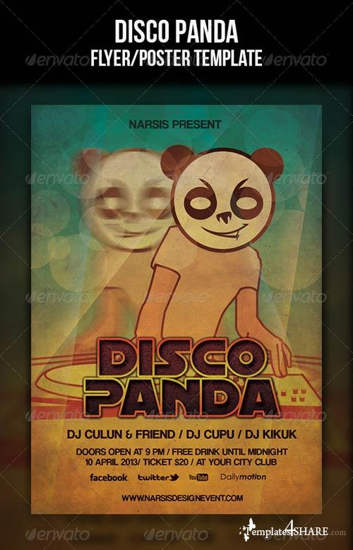 GraphicRiver Disco Panda Flyer Template