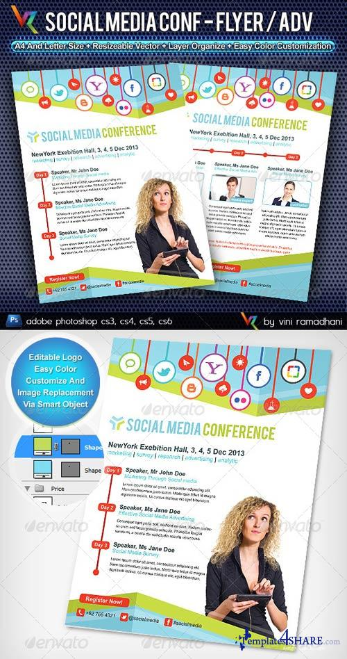 GraphicRiver Social Media Conference Flyer Or Advertising