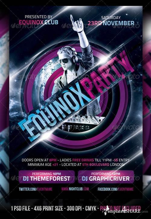 GraphicRiver Equinox Party Flyer