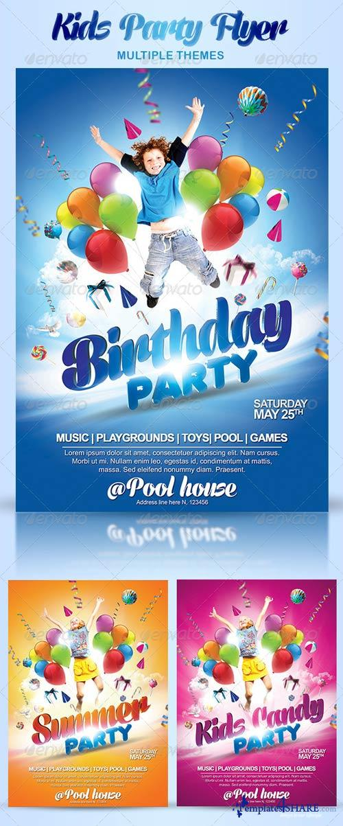 Free Birthday Stuff Website ~ Graphicriver kids party flyer themes � templates share free web and