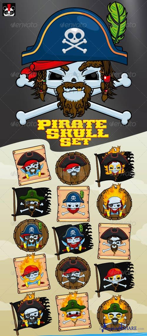 GraphicRiver Pirate Skull Set