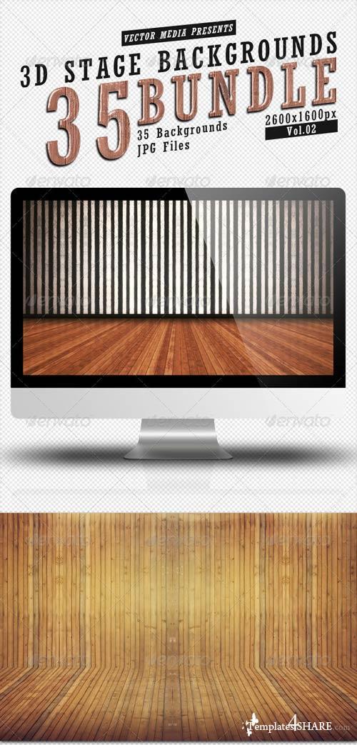GraphicRiver 3D Stage Backgrounds - Bundle Vol.2