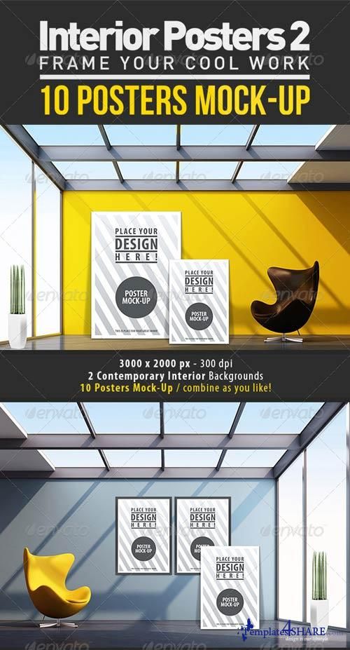 GraphicRiver Interior Posters Mock-Up Vol.2