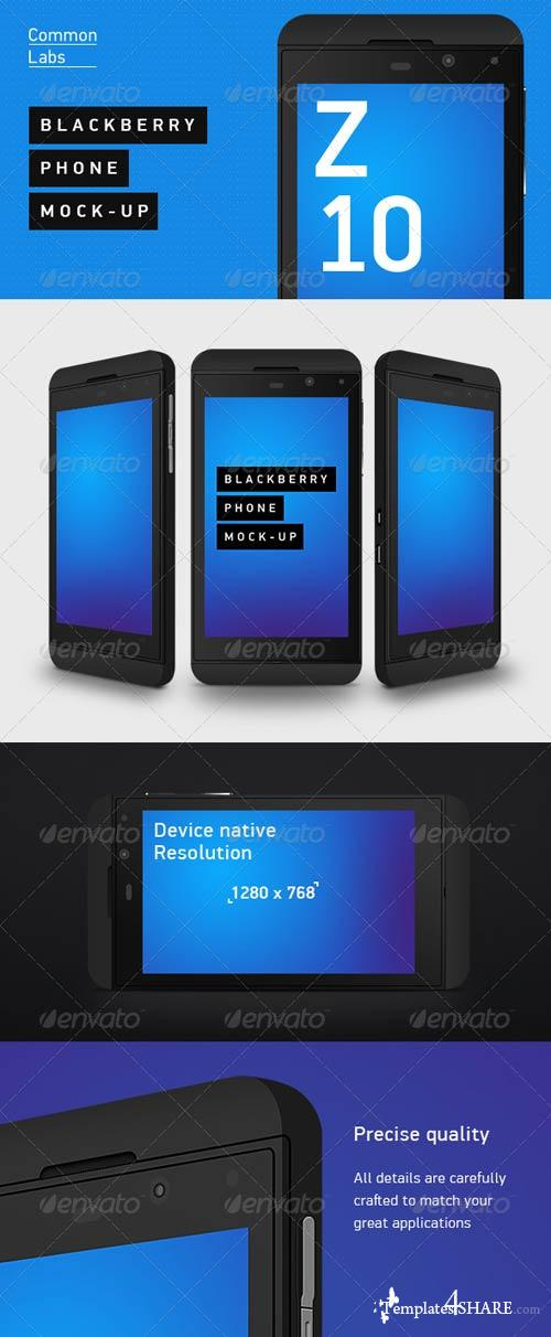 GraphicRiver Blackberry Z10 Phone Mock-Up