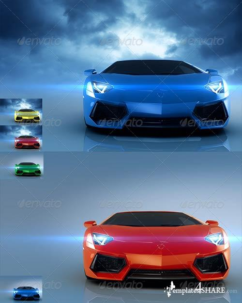 GraphicRiver Sport Cars Vol. 2