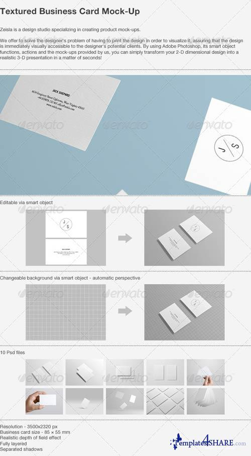 GraphicRiver Textured Business Card Mock-up