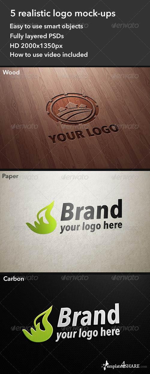 GraphicRiver 5 Realistic Logo Mockups