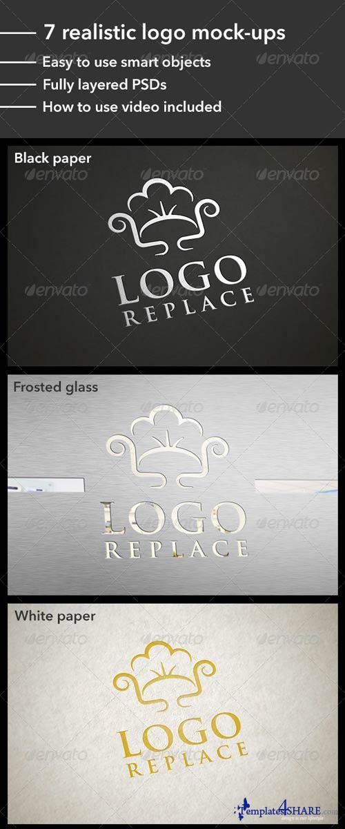 GraphicRiver 7 Realistic Logo Mock-Ups