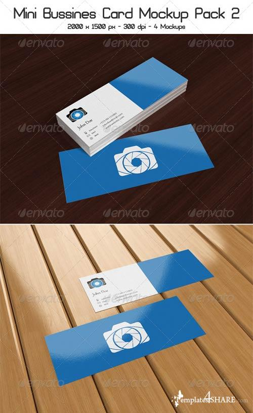 GraphicRiver Mini Business Card Mock-Up Pack 2