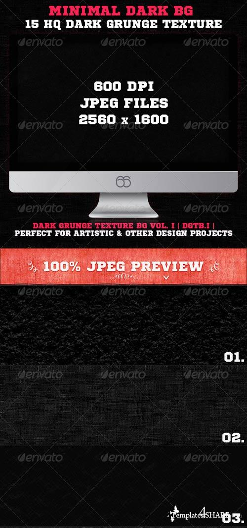 GraphicRiver 15 Minimal Dark Grunge Texture Backgrounds V1