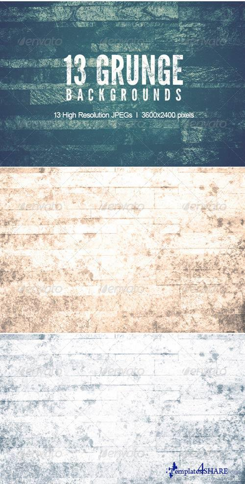 GraphicRiver 13 Grunge Backgrounds