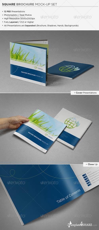 GraphicRiver Square Brochure / Catalog Mock-Up Set
