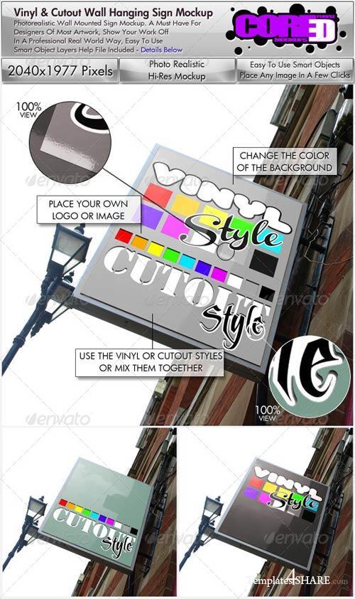 GraphicRiver Wall Hanging Sign Mockup