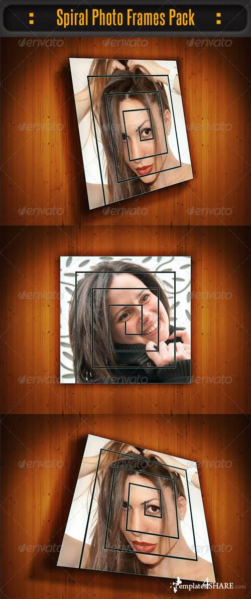 GraphicRiver Spiral Photo Frame Pack