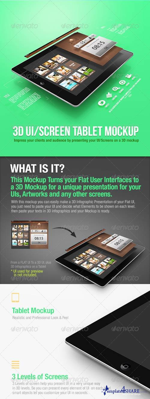 GraphicRiver 3D UI/Screen Tablet Mockup