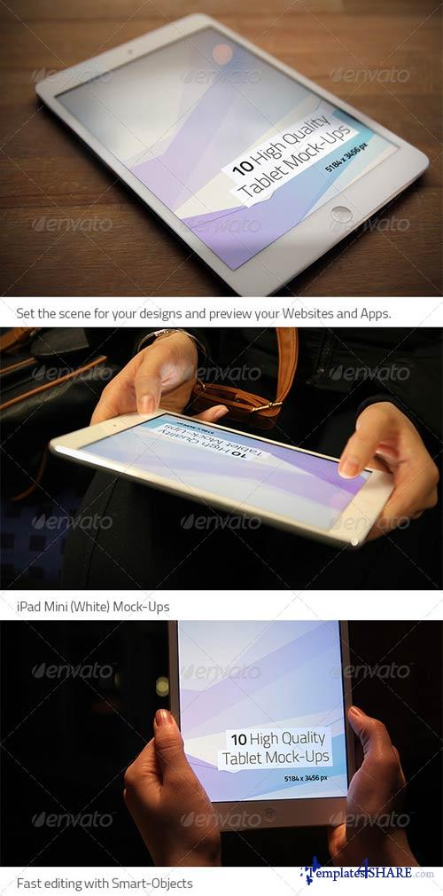 GraphicRiver 10 High Quality Tablet Mock-Ups