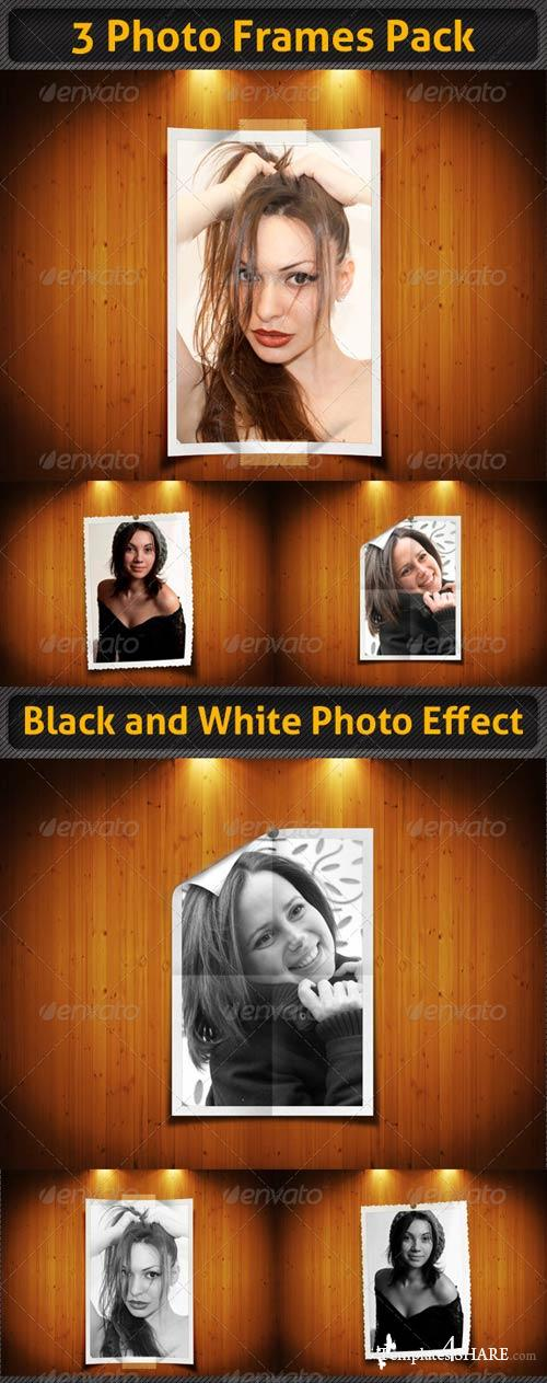 GraphicRiver 3 Photo Frames Pack