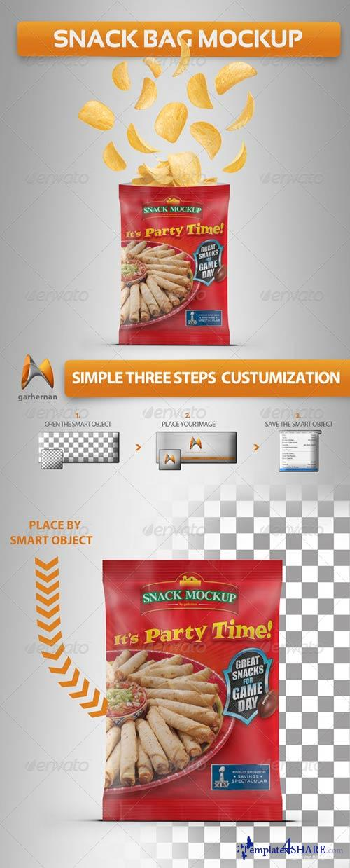 GraphicRiver Snack Bag Mockup