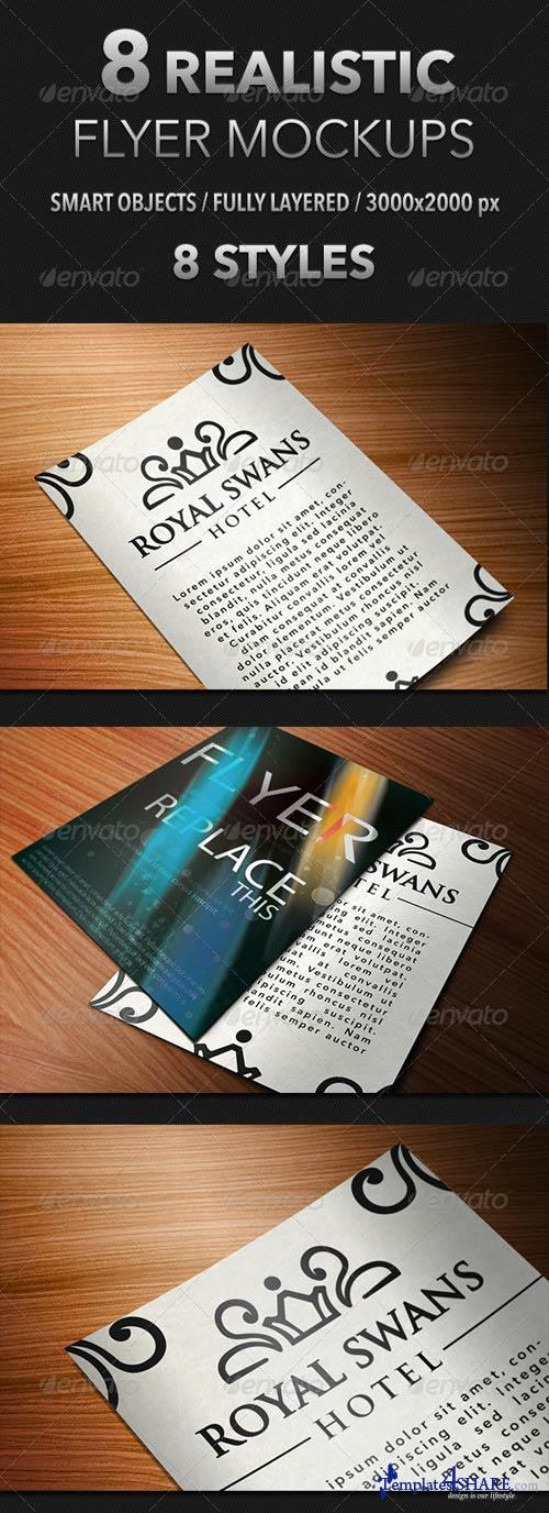 GraphicRiver 8 Realistic Flyer Mockups