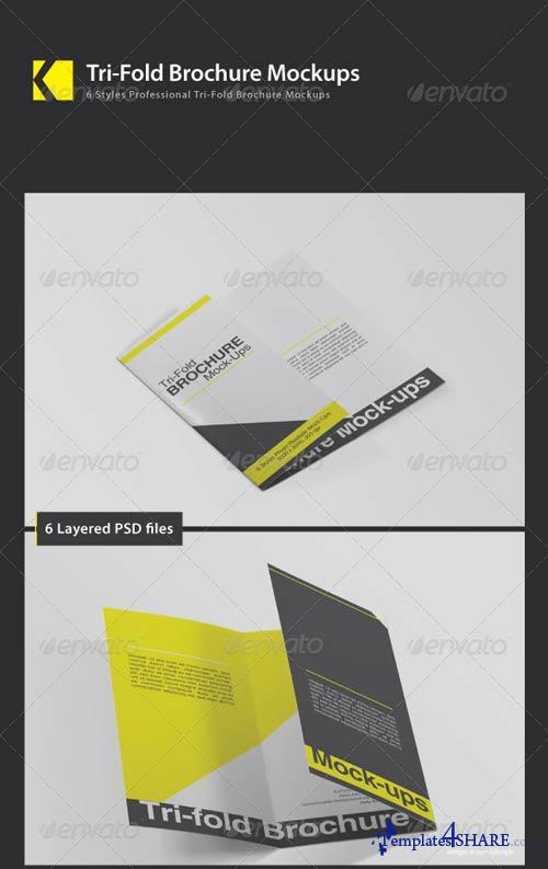 GraphicRiver Tri-Fold Brochure Mockups