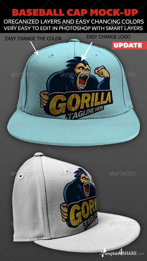 GraphicRiver Baseball Cap Mock-up
