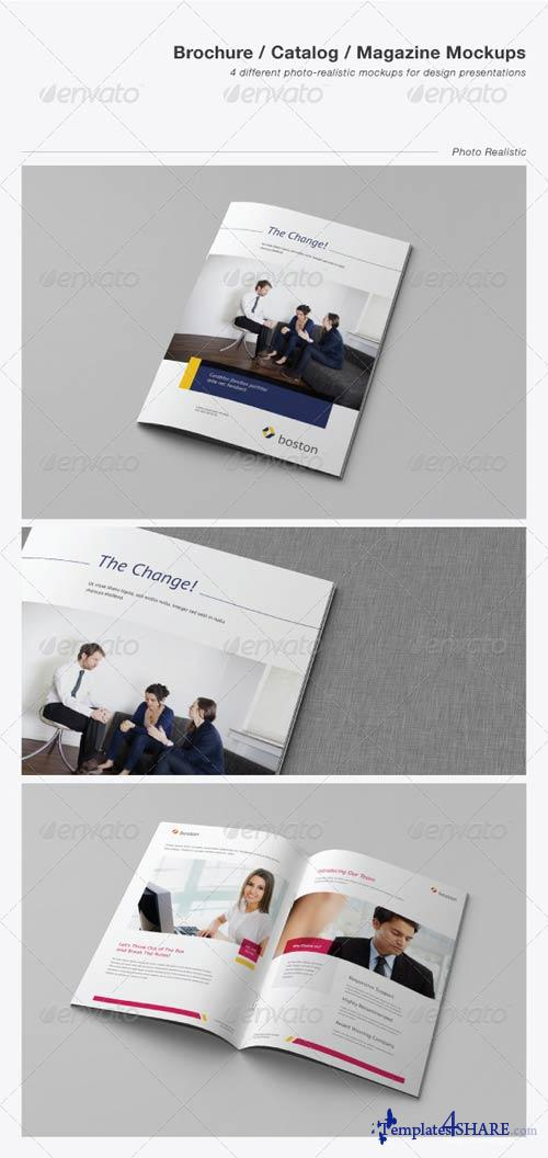 GraphicRiver Brochure / Catalog / Magazine Mockups
