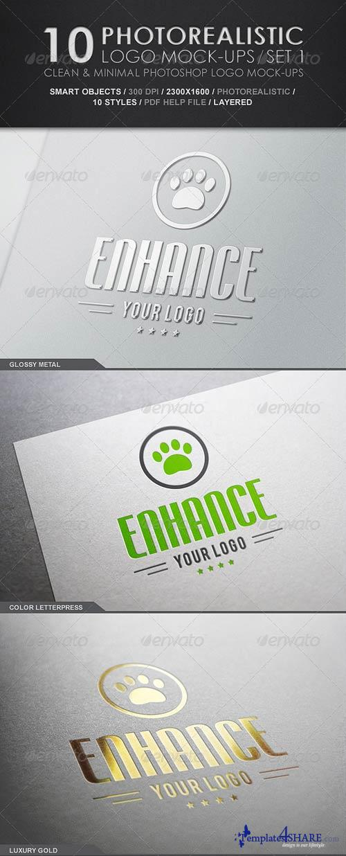 GraphicRiver 10 Photorealistic Logo Mock-Ups / Set 1