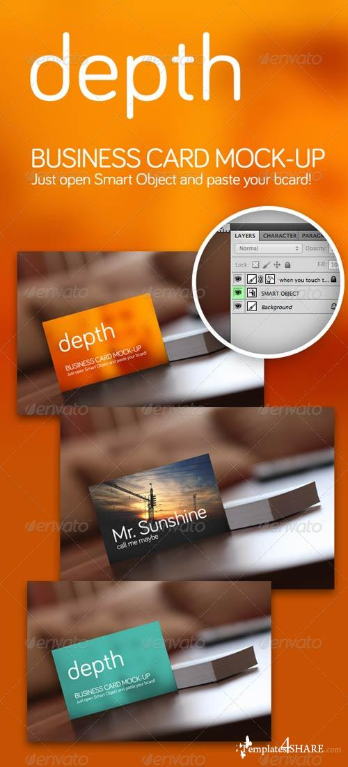 GraphicRiver Depth - Business Card Mock-Up
