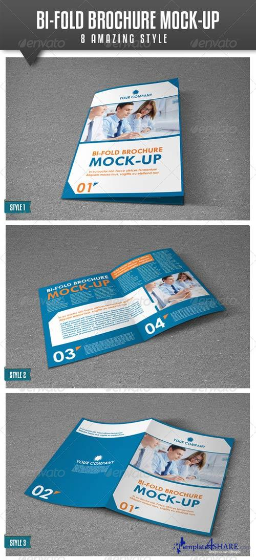 GraphicRiver Bi-Fold A4 Brochure Mock-up