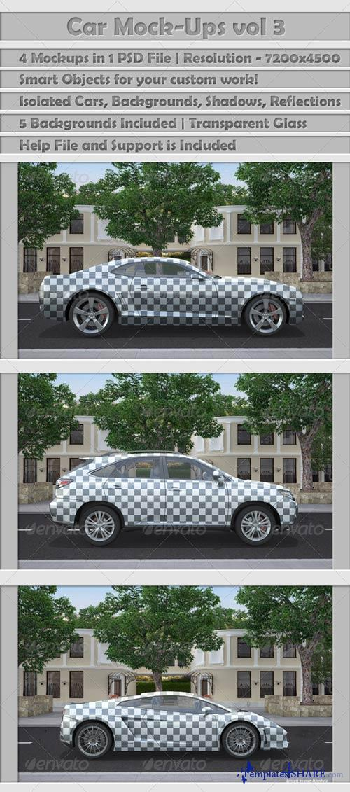 GraphicRiver Car Mock-Ups v3