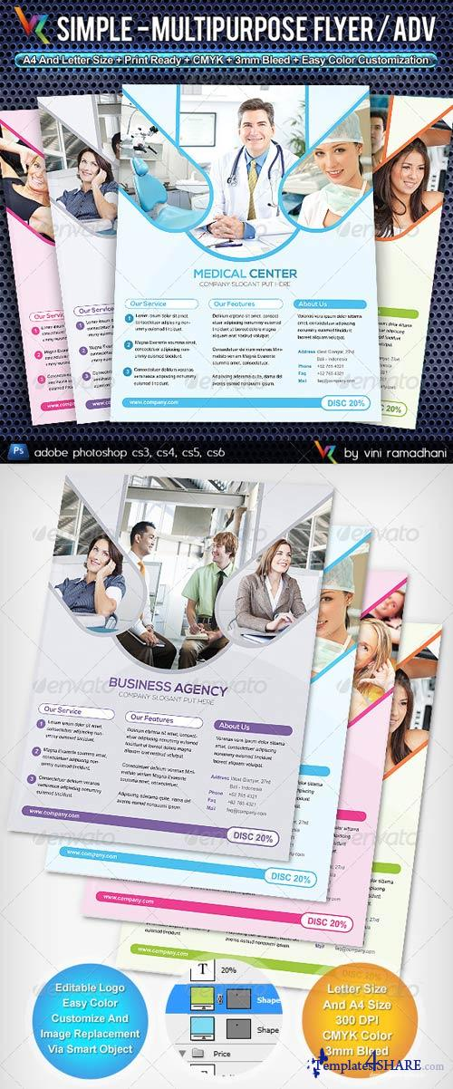 GraphicRiver Simple Multipurpose Flyer Or Adv