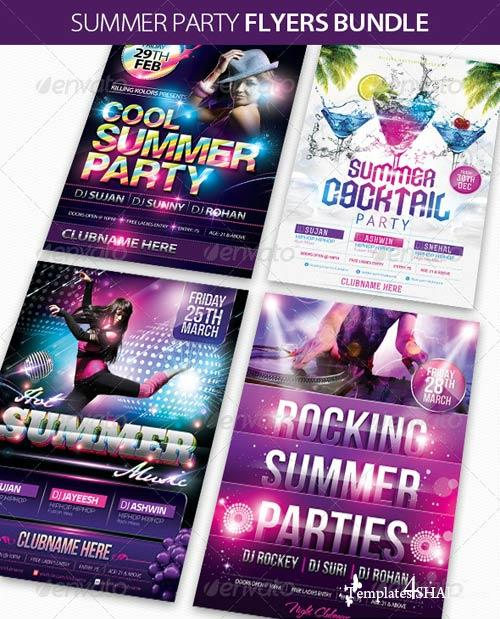 GraphicRiver Summer Party Flyers Bundle