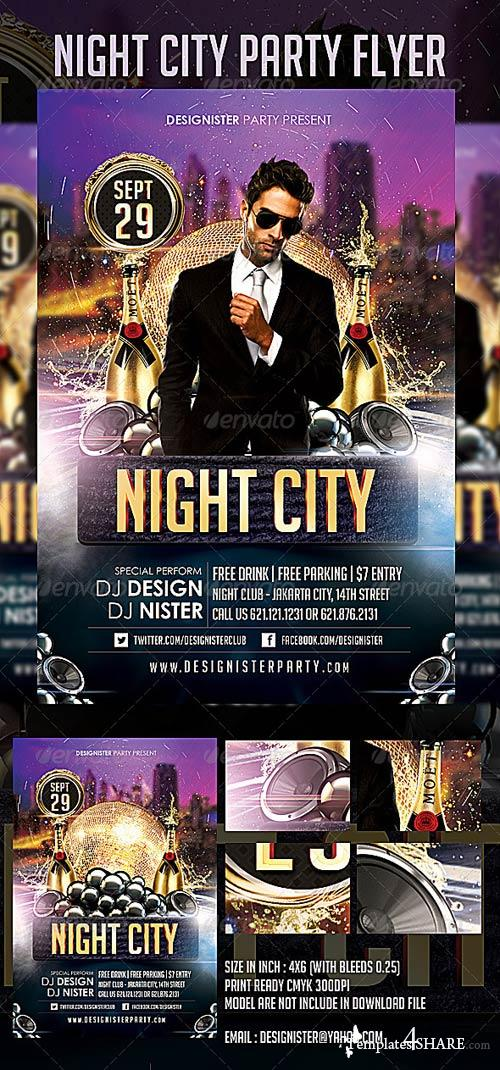 GraphicRiver Night City Party Flyer