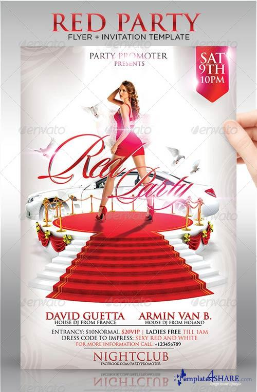 GraphicRiver Red Party Flyer Template