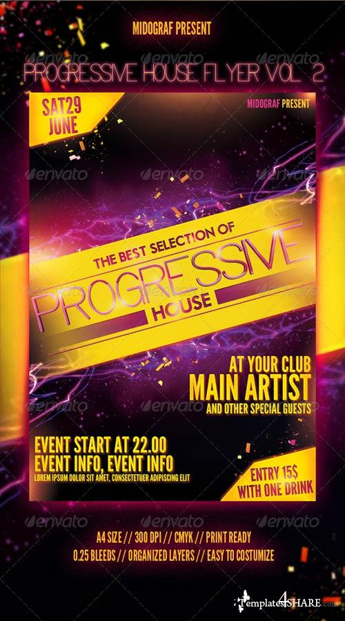 GraphicRiver Progressive House Flyer Vol.2