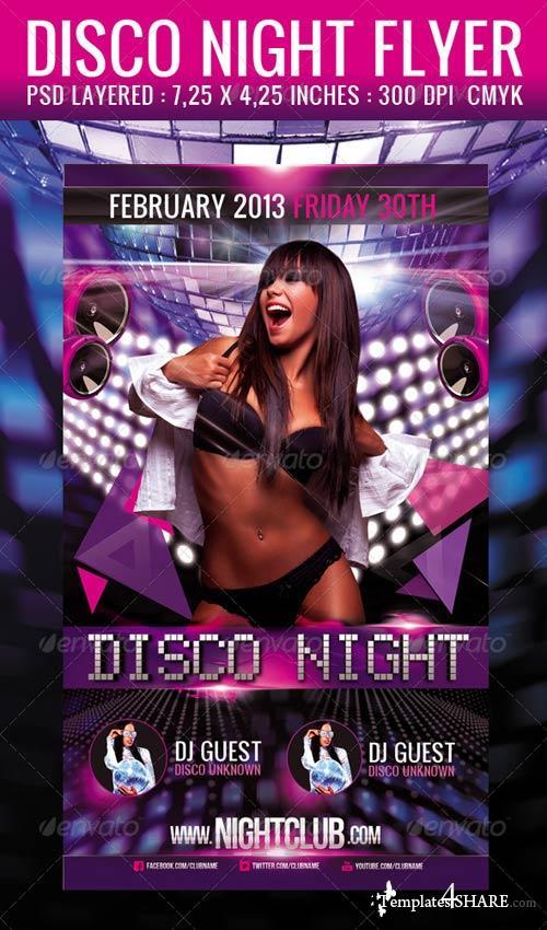 GraphicRiver Disco Night Flyer