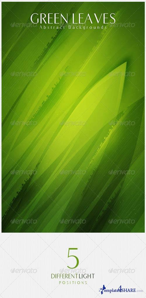 GraphicRiver Green Leaves Abstract Backgrounds
