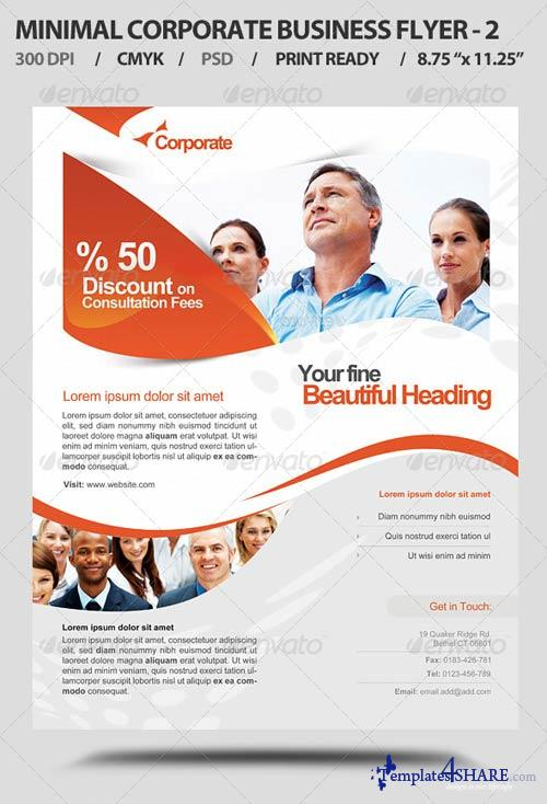 GraphicRiver Minimal Corporate Business Promotion Flyer V2