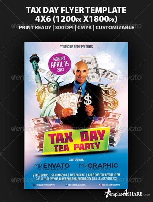 GraphicRiver Tax Day Tea Party Flyer Template