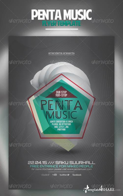 GraphicRiver Penta Music Flyer Template