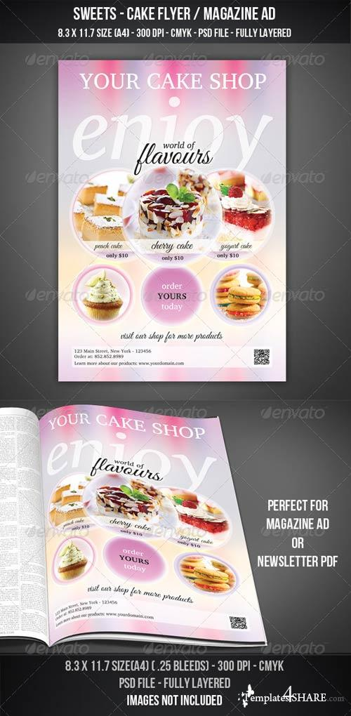 GraphicRiver Sweets - Cake Flyer / Magazine AD
