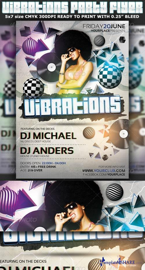 GraphicRiver Vibrations Party Flyer Template
