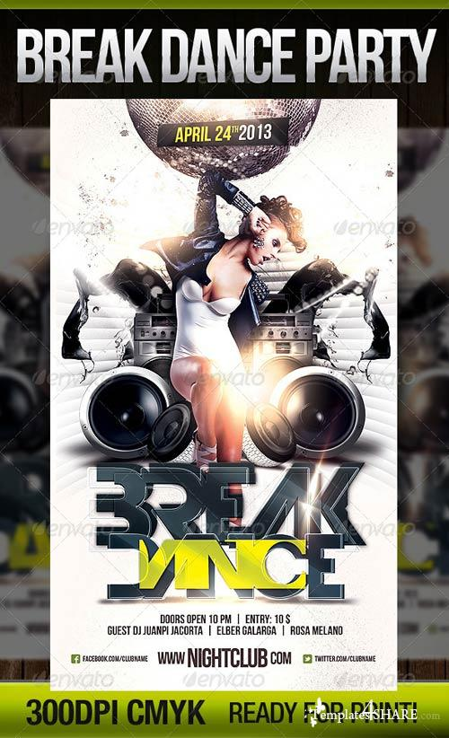GraphicRiver Break Dance Flyer