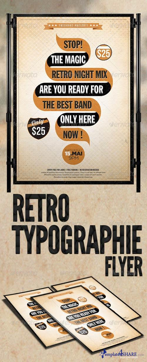 GraphicRiver Retro Typographie Flyer Template