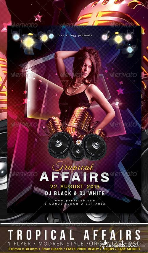 GraphicRiver Tropical Affairs Party Flyer Template