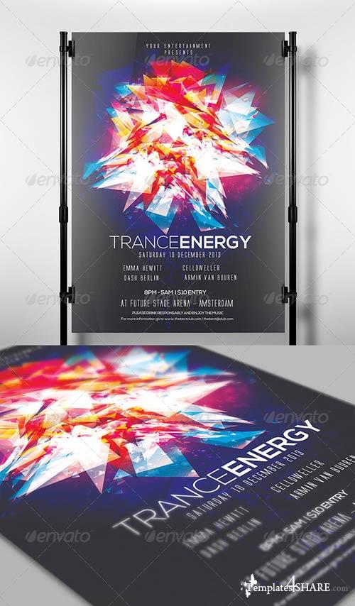 GraphicRiver Trance Energy Flyer Template