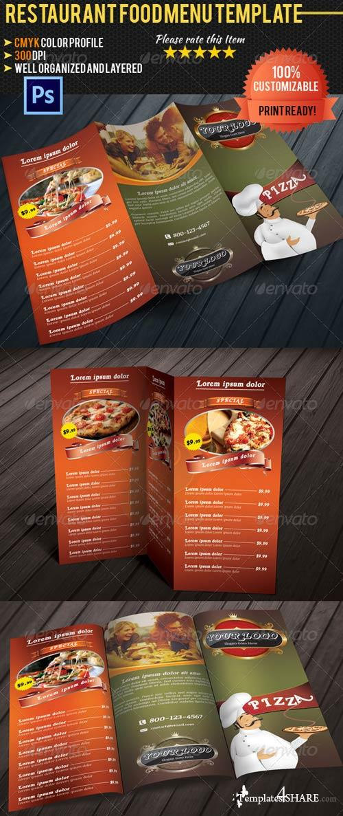 GraphicRiver Tri-fold Restaurant Food Menu Template