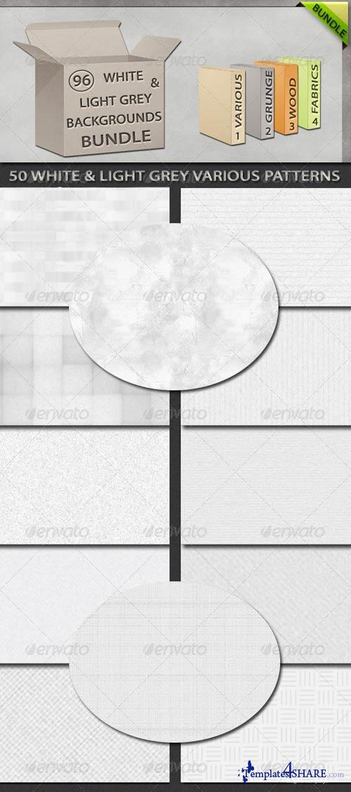 GraphicRiver 96 White and Light Grey Backgrounds Bundle