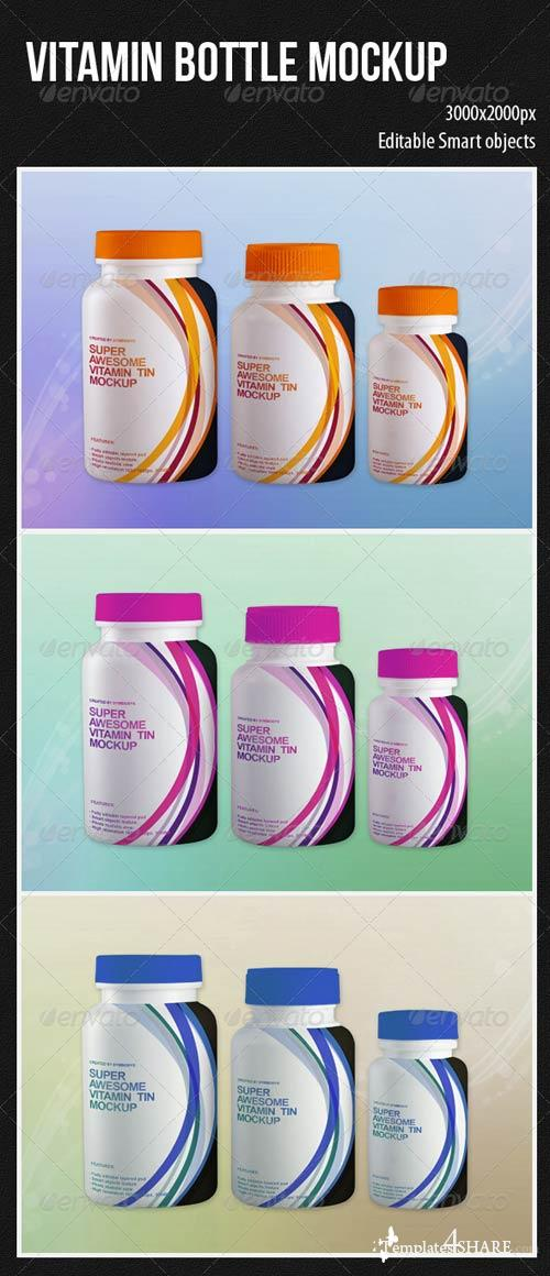 GraphicRiver Vitamin Bottle Mockup