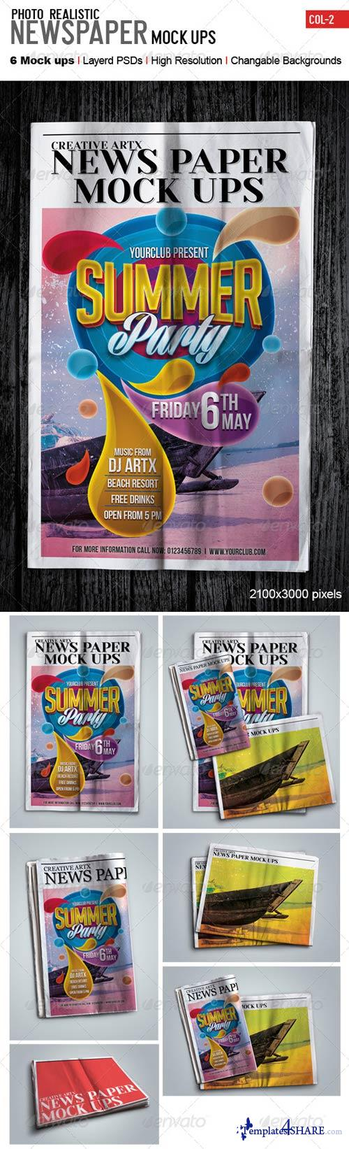 GraphicRiver Newspaper Mockups